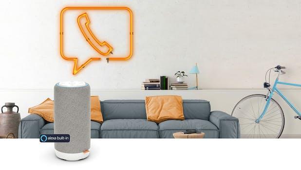 Gigaset: Alexa-Smartspeaker ist gleichzeitig ein Freisprech-DECT-Telefon