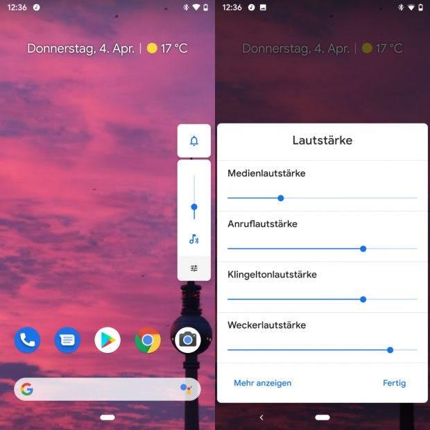 Android Q bringt mehr Kontrolle bei der Lautstärkeregelung zurück. (Bild: t3n)