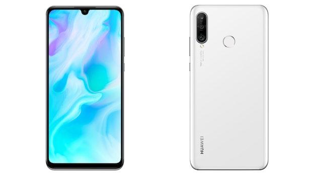 Huawei P30 Lite in Weiß. (Bild: Huawei)