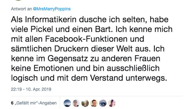 Job-Klischees in IT-Berufen. (Screenshot: Twitter)