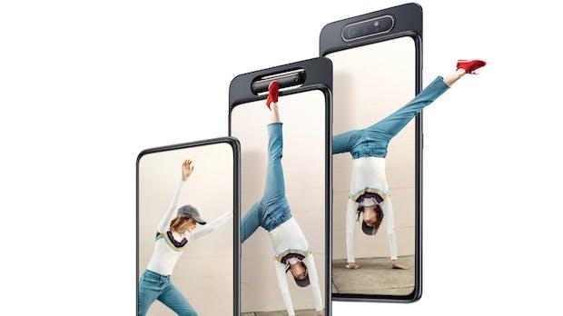 Mit rotierender Triple-Cam und ohne Loch im Display: Samsung Galaxy A80 kann ab sofort bestellt werden