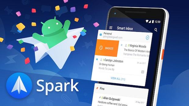 Den beliebten Mail-Client Spark gibt's jetzt auch für Android
