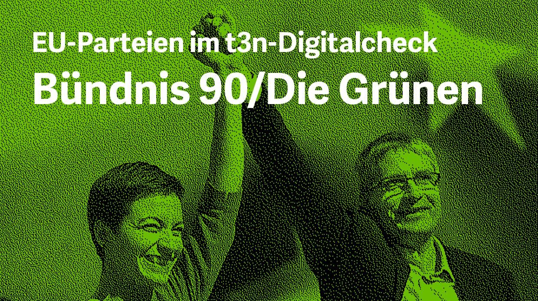 EU-Wahlprogramm im Digitalcheck: Was wollen die Grünen? (Grafik: dpa/t3n)