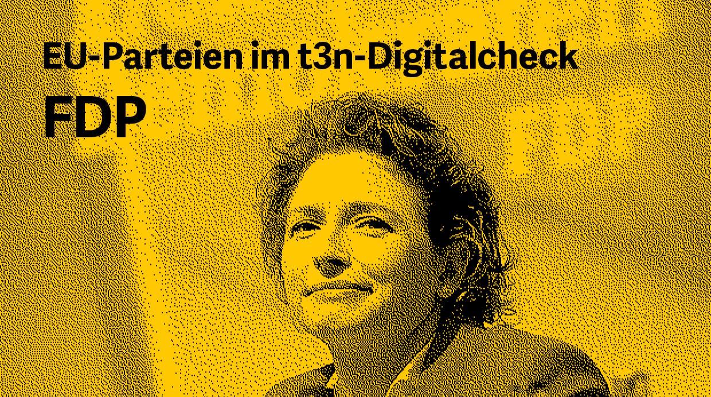 EU-Wahlprogramm im Digitalcheck: Was will die FDP? (Grafik: dpa / t3n.de)