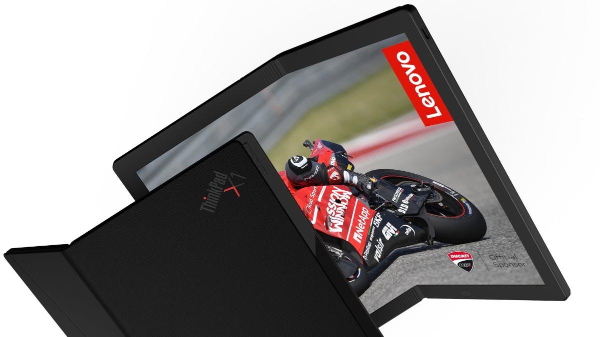 Lenovo zeigt weltweit erstes Notebook mit faltbarem Display