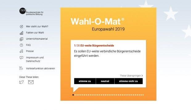 Wahl-O-Mat zur Europawahl 2019