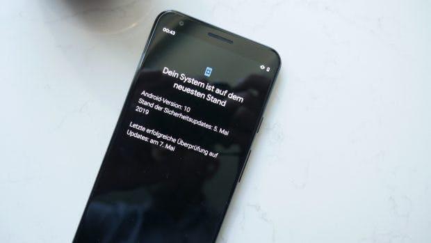Android 10: Nach der Installation von Android Q Beta 3 wird die Versionsnummer des Updates in den Einstellungen angezeigt. (Foto: t3n)