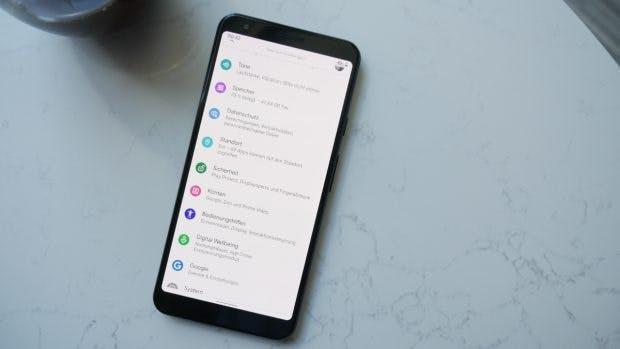Android 10 bringt die Rubrik Sicherheit in die Einstellungen. (Foto: t3n)