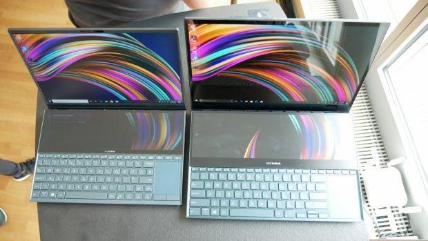 Asus Zenbook Duo (links) und Zenbook Pro Duo. (Foto: t3n)