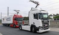 Pilotprojekt: E-Autobahn für Lastwagen in Deutschland geht in Betrieb