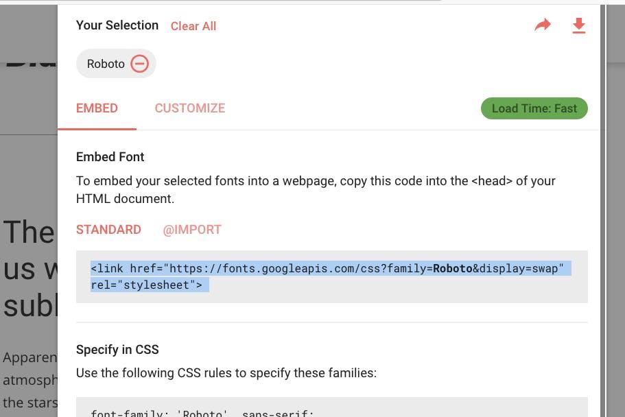 Google Fonts verbessert gefühlte Ladezeit