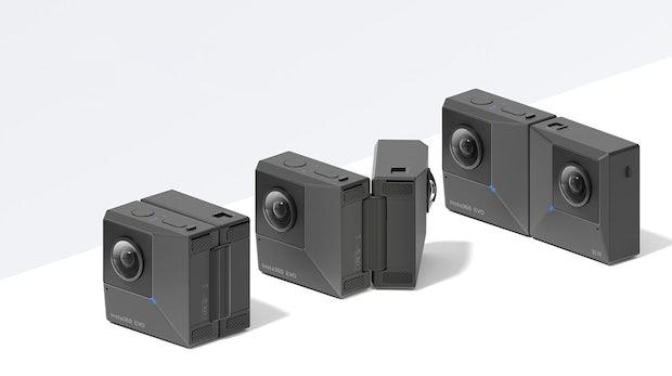 Insta360 EVO – die erste faltbare Kamera für 180-Grad-3D- und 360-Grad-Aufnahmen