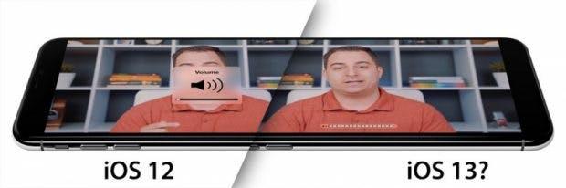 iOS 13 - So könnte die neue Lautstärkeregelung aussehen. (Bild 9to5Mac)