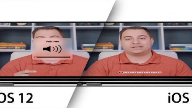 iOS 13 – so könnte die neue Lautstärkeregelung aussehen. (Bild 9to5Mac)