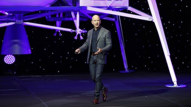 Jeff Bezos stellt spektakuläre Mondlandefähre vor