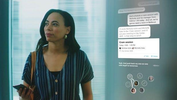 Microsoft 365: Cortana wird zum Gesprächspartner. (Bild: Microsoft)