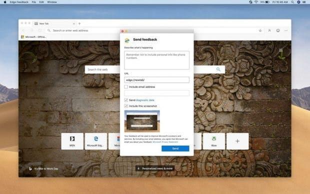 Microsoft wünscht sich Feedback für die neue Edge-Version. (Bild: Microsoft)