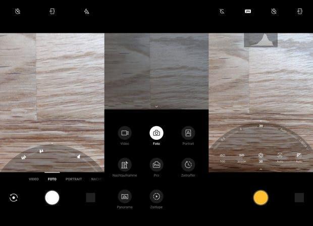 Die Kamera-App des Oneplus 7 Pro. (Screenshots: t3n)