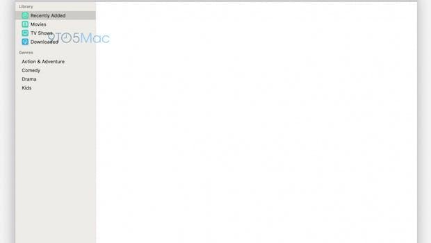 macOS 10.15 – Screenshot der neuen TV-App. (Bild: 9to5Mac)