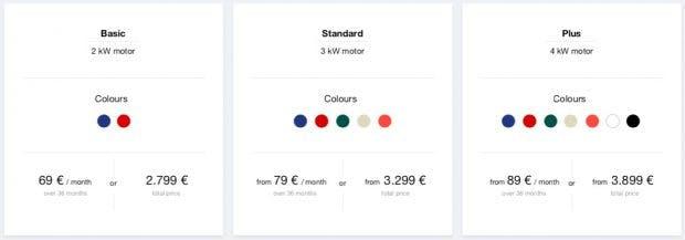 Neuer vernetzter Elektroroller von Unu – alle Farben und Preise. (Bild: Unu)
