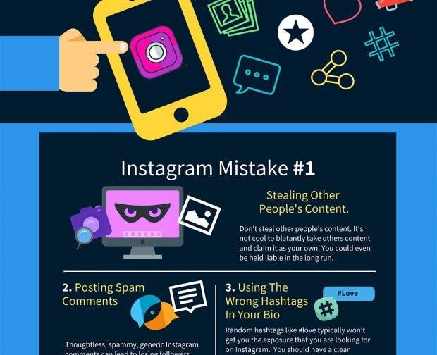 Diese 10 Instagram-Fehler solltest du vermeiden.
