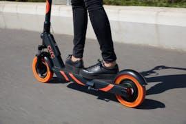Der E-Scooter von Circ. Das Modell für den deutschen Markt erhält eine zweite Bremse und eine Vorrichtung zum Anbringen der Versicherungsplakette. (Foto: Circ)