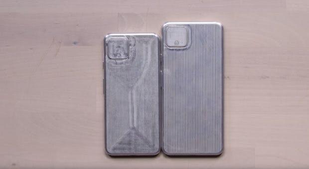 Eine Gussform des Pixel 4, der von Herstellern zur Produktion von Schutzhüllen genutzt wird. (Screenshot: Unbox Therapy)