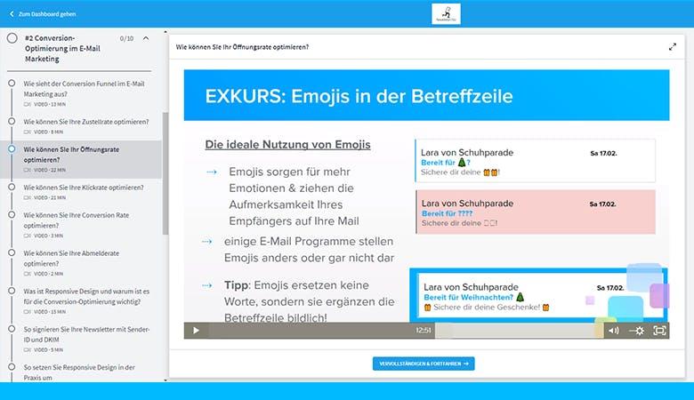Die Öffnungsrate kann durch die Verwendung von Emojis nachweislich verbessert werden