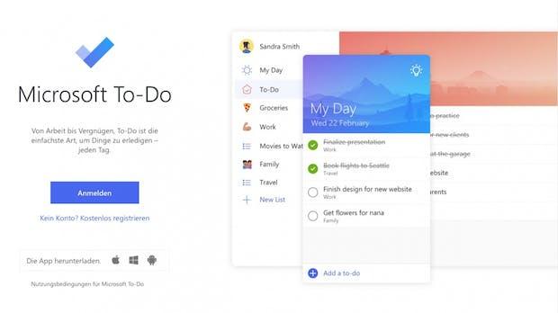 Microsoft bringt seine To-do-App To-Do auf den Mac