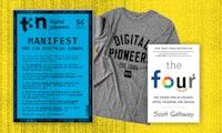 """Das Fachbuch zu Amazon, Apple, Facebook und Google: """"The Four"""" gratis zu deinem neuen t3n Abo!"""