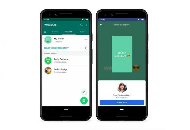 Neues Feature Teilt Whatsapp Status Mit Facebook Und Anderen