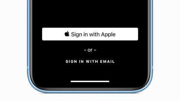 """""""Anmelden mit Apple"""": Google und Facebook soll der Riegel vorgeschoben werden"""