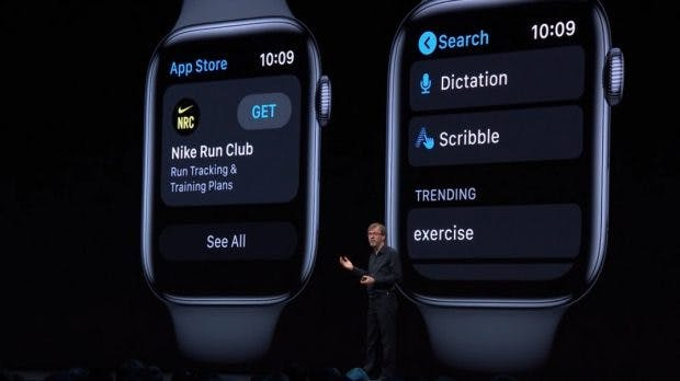Apple zeigt watchOS 6 für die Apple Watch. (Screenshot: Apple/t3n)