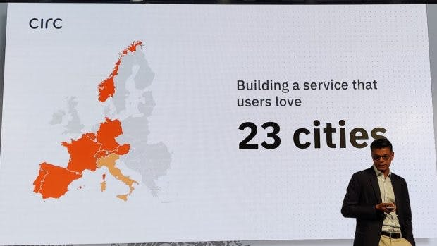 Circ E-Scooter: In 23 Städten aktiv. (Foto: t3n)