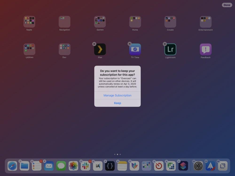 iOS 13 warnt euch vor dem Löschen einer App, falls ihr ein laufendes Abo fr den Dienst habt. (Screenshot: Viticci)