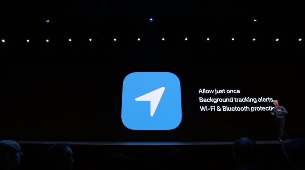 iOS 13 Location-Tracking. (Screenshot: t3n; Apple)