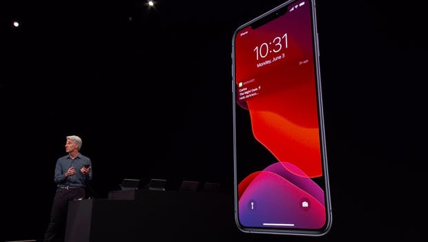 Der Dunkelmodus von iOS 13. (Screenshot: Apple/t3n)