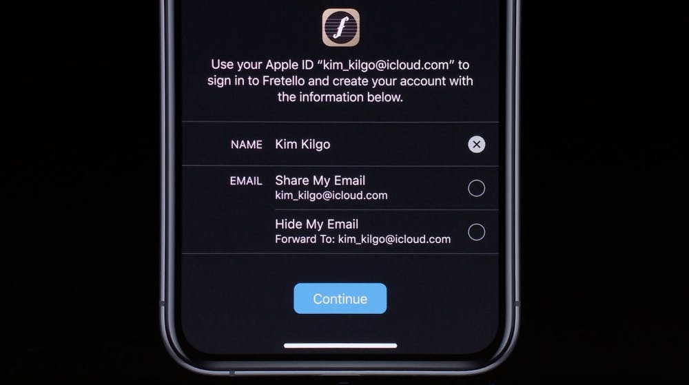 iOS 13 – Mit Apple Anmelden. (Screenshot: t3n; Apple)
