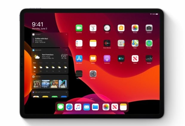iPadOS – der neue Homescreen. (Bild: Apple)