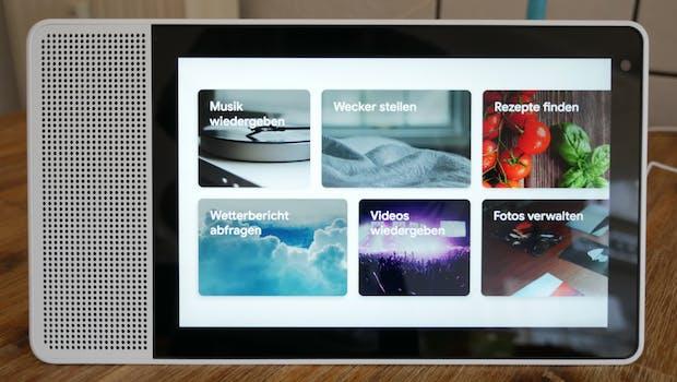Funktionsvorschläge auf dem Lenovo Smart Display 10. (Foto: t3n)