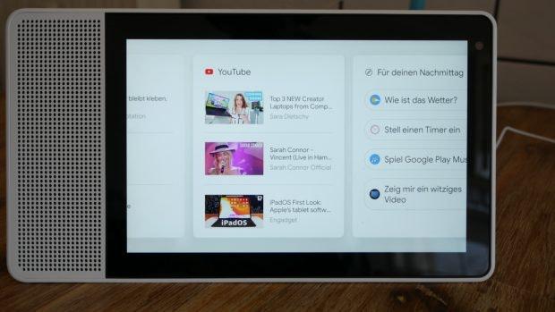 Die vorgeschlagenen Youtube-Kanäle auf dem Smart-Display lassen sich nicht manuell anpassen. (Foto: t3n)