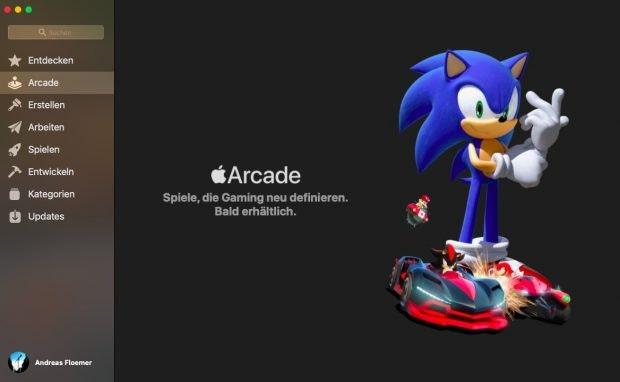 macOS 10.15 Catalina – Apple Arcade soll wie Apple T+ im Herbst starten. (Bild: t3n)