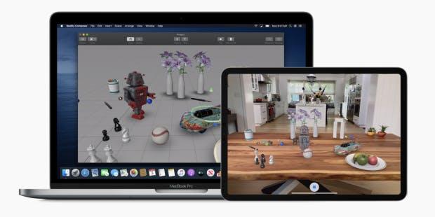 Realitykit bietet Entwicklern AR-Ressourcen. (Bild: Apple)