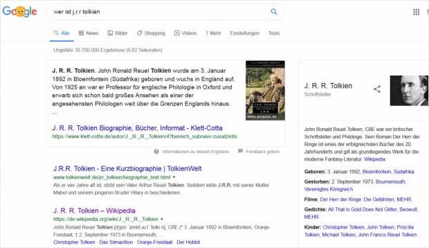 SEO: Suchergebnis auf Google (No Click)