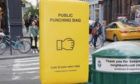 Stressabbau: In New York gibt es öffentliche Boxsäcke, um Frust abzubauen