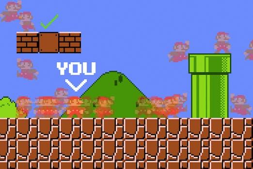 Büro-Challenge: Hier könnt ihr Super Mario im Multiplayer spielen