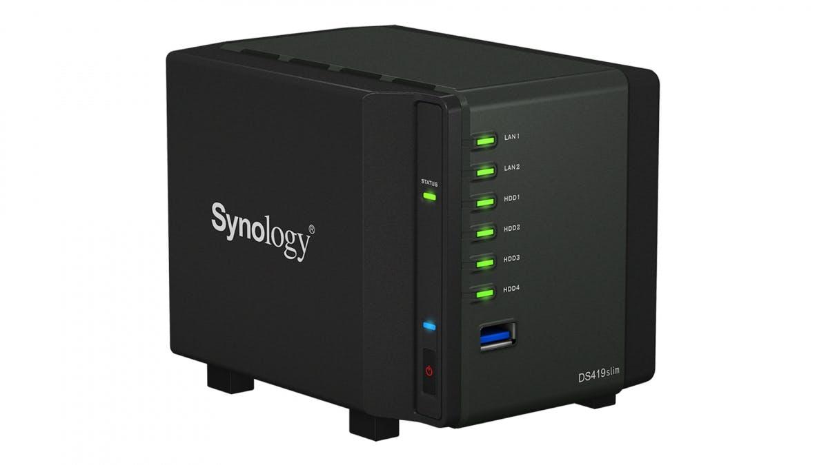 Diskstation DS419slim: Synology kündigt neue Mini-NAS an