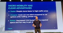 Tier-Mobility-Chef Lawrence Leuschner auf der Noah Conference. (Foto: t3n)