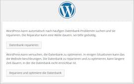 WordPress: Datenbakn optimieren/reparieren