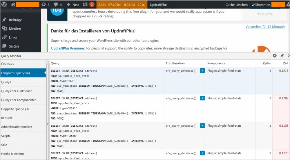 WordPress: Query Monitor im Einsatz
